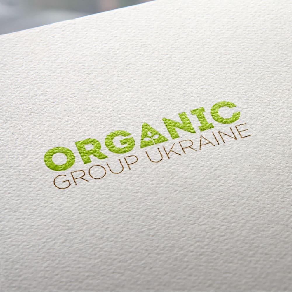 Logo printing on Organic Group Ukraine paper